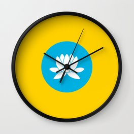 kalmykia flag Wall Clock