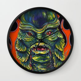Creature From The Black Lagoon Wall Clock