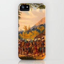 Caribi Village Anai Illustrations Of Guyana South America Natural Scenes Hand Drawn iPhone Case