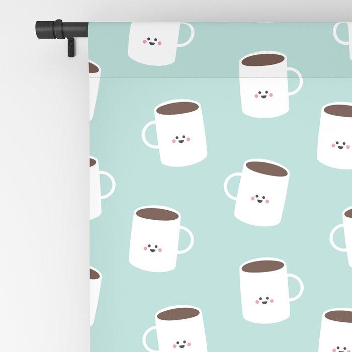 Kawaii Coffee Blackout Curtain