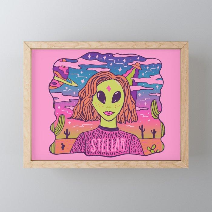 Stellar Girl Framed Mini Art Print
