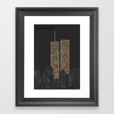 2606 Souls compose The Twin Towers Framed Art Print