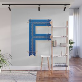 The Letter F Wall Mural
