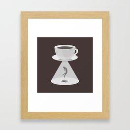 Beam Me Up Coffee Framed Art Print