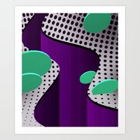 Abstract Valley Art Print