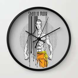 shaolin monk Wall Clock