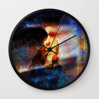 egypt Wall Clocks featuring ancient Egypt by  Agostino Lo Coco