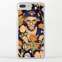 Floral New York fan Clear iPhone Case