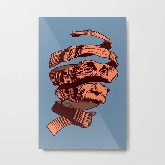 E=M.C. Escher Metal Print
