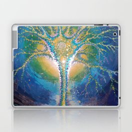 neural tree painted on glass - neuron pictura pe sticla Laptop & iPad Skin