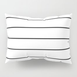 SKINNY STRIPE ((black on white)) Pillow Sham