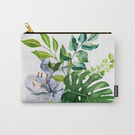 Flower and Leaves Carry-All Pouch