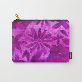 Pink Watercolor Flower Pattern Carry-All Pouch