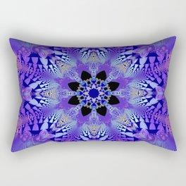Pink, purple and sand kaleidoscope Rectangular Pillow