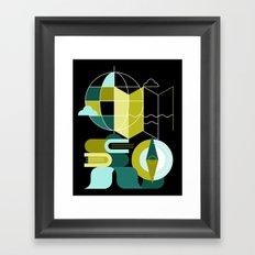Geography Framed Art Print