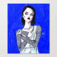 sky ferreira Canvas Prints featuring Sky ferreira / Blue period  by Lucas David