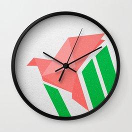 Flying origami Wall Clock