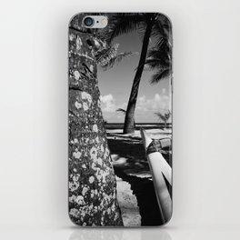 Kuau Beach Palm Trees and Hawaiian Outrigger Canoe Paia Maui Hawaii iPhone Skin