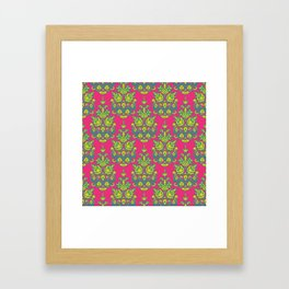 Kala damask ikat Framed Art Print