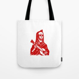 Grim Reaper With Guitar Tote Bag
