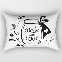 Made with love Rectangular Pillow