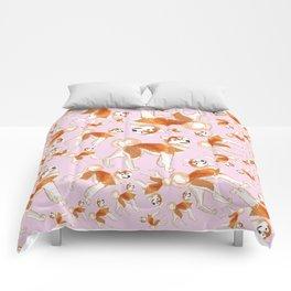 Akita Inu (Pattern) Comforters