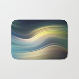 Moonlight Sonata. Abstract modern wavy flowing silk, satin, smooth Bath Mat