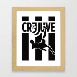 CR7 Ronaldo Juve Juventus Framed Art Print