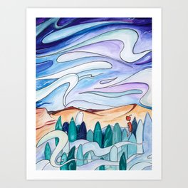 The Outdoors Art Print