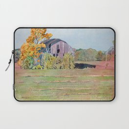 Autumn Michigan Barn Laptop Sleeve