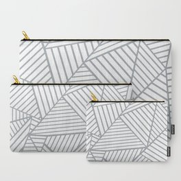 Abstraction Lines Zoom Grey Carry-All Pouch