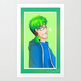 Jacksepticeye Glasses Art Print