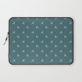 Blue little storks pattern Laptop Sleeve