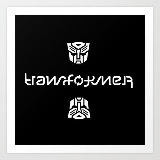 TRANSFORMER ambigram Art Print