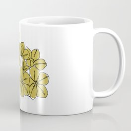 Botanical floral illustration line drawing - Iona Coffee Mug