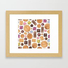 Selection of Sweets, Candy, Cakes and Biscuits Framed Art Print