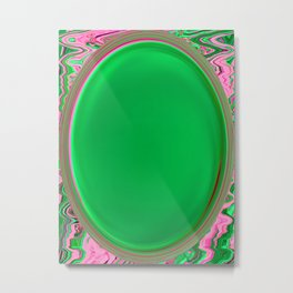 The Green Button Metal Print