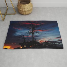 Trees On The Sunset Rug