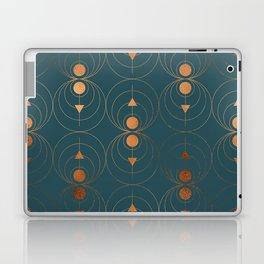 Copper Art Deco on Emerald Laptop & iPad Skin