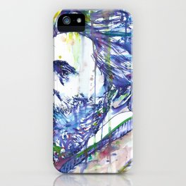 HERMAN MELVILLE watercolor and ink portrait.2 iPhone Case