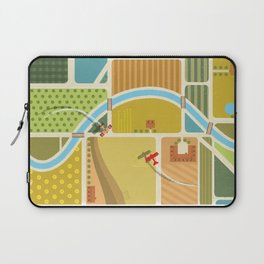 from above in the skies of Picardy Laptop Sleeve