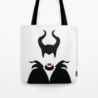 maleficent Tote Bags featuring MALEFICENT by SaladInTheWind