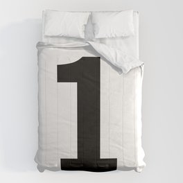 Number 1 (Black & White) Comforters