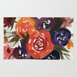 Country Fall Watercolor Bouquet Rug
