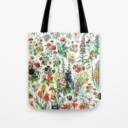 Adolphe Millot - Fleurs A - French vintage poster Tote Bag
