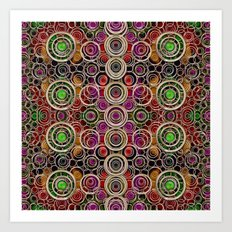 Just wood and colors Art Print