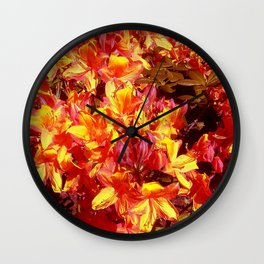 The fire is raging Wall Clock