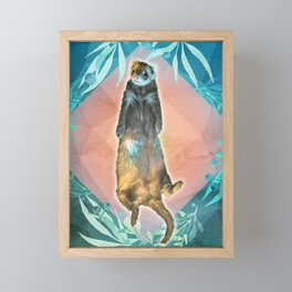 Meditating Mustelid Pose Framed Mini Art Print