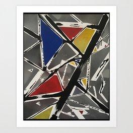 Mondrian's Lesser Evil - High Res Art Print