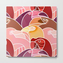 Beaky Birds Metal Print